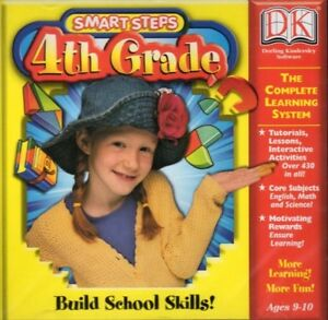 DK Smart Steps 4th Grade Pc Mac New Cd Rom Only In Paper Sleeve XP