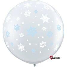 Party Supplies Christmas Winter Frozen Snowflakes Around 90 cm 3ft Latex Balloon