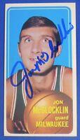JON McGLOCKLIN signed autograph 1970-71 Topps tall boys Milwaukee Bucks