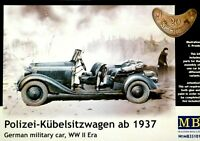 Masterbox 1:35 Polizei-Kubelsitzwagen ab 1937 German Car WWII Era Model Kit