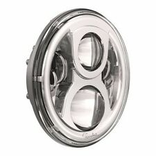 JW Speaker 8700 Evolution 2 Round 7  LED Headlight   Chrome 97 15 Jeep Wrangler