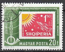 Ungarn Briefmarke gestempelt Luftpost Raumfahrt Rakete Sonne Kosmos 1963 / 745