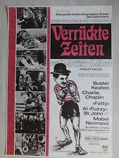 "Kinoplakat Filmplakat ""Verrückte Zeiten""  (1960) Charlie Chaplin, B Keaton"