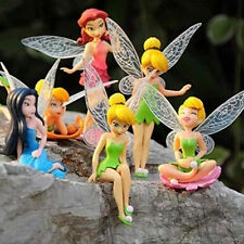6x Flower Fairy Pixie Women Fly Wing Family Miniature Dollhouse Garden Ornament