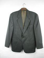 Daks Grey Blue Orange Pinstripe Wool Suit Jacket Mens Size Eur 52 #84E3