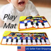 Kids Baby Music Keyboard Piano Play Mat Musical Educational Development   US