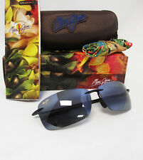 New Maui Jim LIGHTHOUSE Gloss Black / Neutral Grey Polarized Sunglasses 423-02