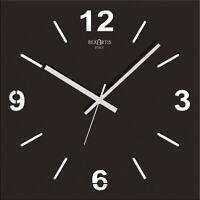 OROLOGIO DA MURO NERO, QUADRATO, STILEWOOD, HOME DESIGN, black modern wall clock