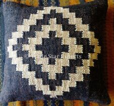 "Set Of 2 Hand Woven Kilim Pillow Cases 18X18""  Indian Vintage Jute Cushion Cover"