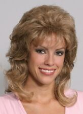 VICKY AUBURN BLONDE BROWN BLACK 80'S 60S 70S WOMAN LONG CURLY WAVY COSTUME WIG