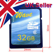 Big Old Size Wave 32GB SD Card 76/33 MB/s R/W (32x24mm)