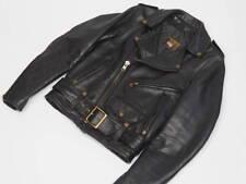 Vanson C2 Leather Motorcycle Jacket Size 32 XXS Black Perfecto Motorbike Biker