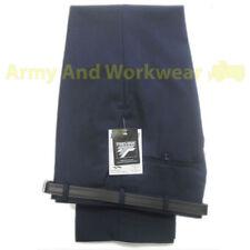 Pantalones de hombre delanteras lisas negros azules