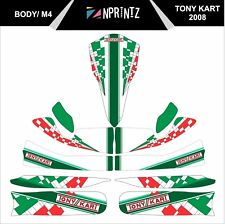 M4 TONYKART 2008 REPLICA STYLE FULL KART STICKER KIT - KARTING - OTK - EVK M4