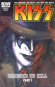 KISS #1 1:10 incentive cover Gaydos Demon Dressed To Kill Gene Simmons IDW comic