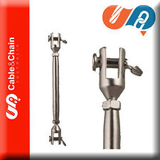 1 X M16 16mm - SS 316 - rigging screw - Fork/Jaw - JIS - rated