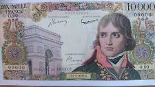 10000 Francs Bonaparte -1955- Magnifique REPRODUCTION type specimen