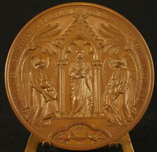 Médaille Baptême communion 1878 sc Oudine Marie Gosselin 15 rue de Babylone