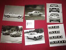 N°4761  /  BMW : 6 photos constructeurs type 316/320   1975 environ