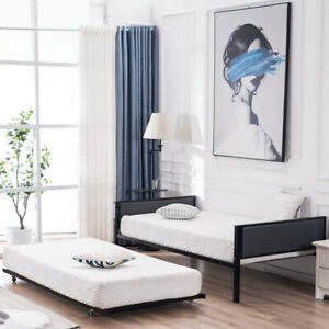 Twin Size Daybed Soft Cover Daybed Black Or Extra Bed Frame Bedroom Furniture