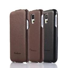Echt Leder Handy Hülle Schutz Cover Case Tasche Book Wallet Flip Etui Schale für