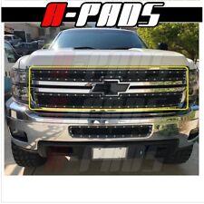 For Chevy Silverado 2500/3500 2011 12 13 2014 Upper Black Steel Wire Mesh Grille