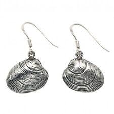 Sterling Silver Quahog Shell Wire earrings