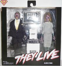 """THEY LIVE (1988 Movie) 8"""" inch Clothed Aliens Action Figure 2-pack Neca 2019"""