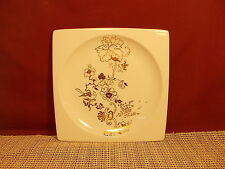 """Wedgwood China Plato Gold Pattern  Accent Salad Plate Elysian  7 3/4"""" Square New"""