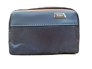 TUMI for Delta One First Class - NEW Toiletry Bag Blue Nylon w/Faux Leather