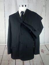 Cerruti King Fashion 3 Button Black Pinstriped Men's 2pc Suit Size 42R