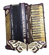 SCANDALLI -BUTTERFLY PIANO ACCORDION- DEL DENESTER ITALIAN SQUEEZE BOX & CASE
