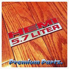 Dodge Hemi 5.7 Liter OEM Emblem Badge New Chrome & Red Dodge Charger Challenger