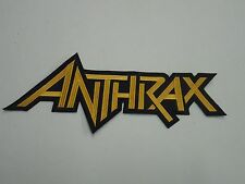 Anthrax Thrash Metal Embroidered Back Patch