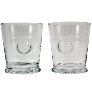 Masters Double Old-Fashioned Glasses -Etched Logo Set of Two