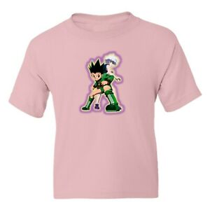 Hunter X Hunter Gon Freecss and Killua Zoldyck Girl Boy Youth Crew Neck T-Shirt