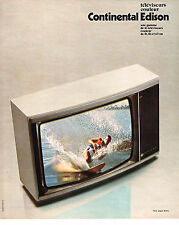 PUBLICITE  1976   CONTINENTAL  EDISON  téléviseur couleur