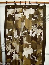 Pottery Barn Teen PBT Classic Camo Deer Hunting Gun Bath Shower Curtain Brown 72