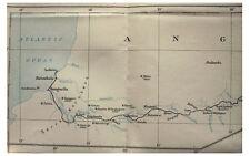 1931 Varian - BENGUELLA RAILWAY - Angola - BELGIAN CONGO - Color Map - 12