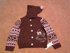 Baby Girls Toddler WonderKids Brown/Pink Puppy Love Sweater,Size 24M