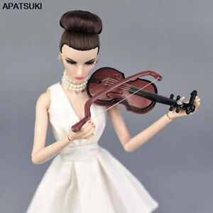 Fashion 1/6 Doll Accessories Musical Instrument for Doll DIY Violin for BJD Doll
