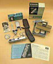 Vintage Minox Wetzlar B Spy Camera w/ Leather Case Flashgun Original Boxes MINT