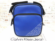 CALVIN KLEIN Small CrossBody Bag 008 Blue Flight Pu Shoulder Bags BNWT RRP£65