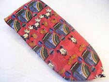 Disney Mickey Unlimited Mickey Mouse Red Novelty Tie Men's Poly Necktie
