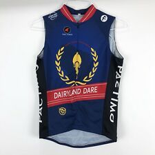 Pactimo Cycling Jersey Bib Racing Dairy Logo Navy Blue Vest - Size XL