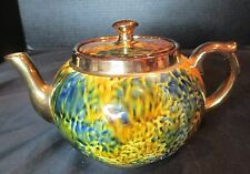 Vintage Abstract Gold Spatter Tea Pot Gibsons England #896