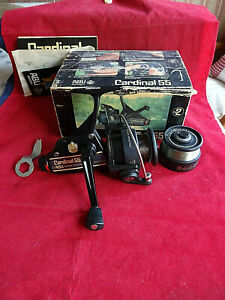 A SUPERB CONDITION SCARCE 1981 BOXED ABU CARDINAL 55 SPINNING REEL