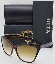 NEW DITA sunglasses Superstition 22030-B 61 Tort Gold Gradient Cat Eye Butterfly