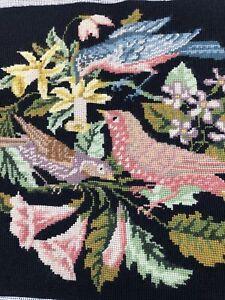 1987 Elizabeth Bradley The 3 Birds Finished Needlepoint