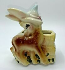 Vintage American Bisque Pottery Donkey Burro Planter